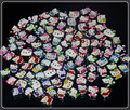 20PCS 8MM Mixed Style Hello Kitty Slide Charms Letters DIY Accessories Fit 8mm Wristband Belts Pet Dog Collars For Car Keychains
