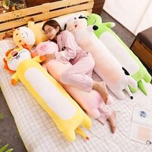 Long Pillow Sleep Dolls Soft Pig Dinosaur Milk Cow Lion Giraffe Animals Stuffed Toys Peluche Cute Cushion Decoration Girl Gifts