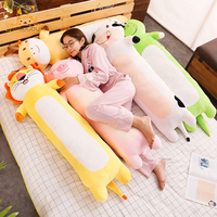 Long Pillow Sleep Dolls Soft Pig Dinosaur Milk Cow Lion Giraffe Animals Stuffed Toys Cute Cushion Bedroom Decoration Girl Gifts