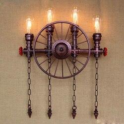 Vintage wodociąg kinkiet Retro Loft LED Edison kinkiet ścienny Apliques Pared oświetlenie przemysłowe z 4 światła oprawa