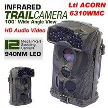 Free Shipping!Brand Original Ltl Acorn 6310WMC 12MP HD 1080P 100 degree Wide View 940nm Trail Hunting Camera W/Sound Record