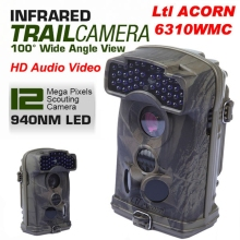 Free Shipping!Brand Original Ltl Acorn 6310WMC 12MP HD 1080P 100 degree Wide View 940nm Trail Hunting Camera W/Sound Record