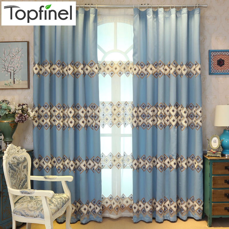 Luxury embroidered curtains for living room bedroom - European style curtains for living room ...