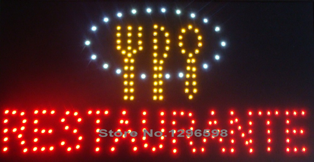 2017 led restaurant advertising sign shot sale customed low power 10X19 inch semi-outdoor Ultra Bright