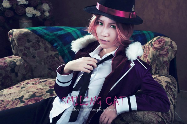 Anime Diabolik Lovers Sakamaki Laito Cosplay Costume with hat