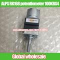 1 шт. ALPS RK168 четверка потенциометра двигателя B100K 100KBX4/длина Ручки 25MMF 216 М