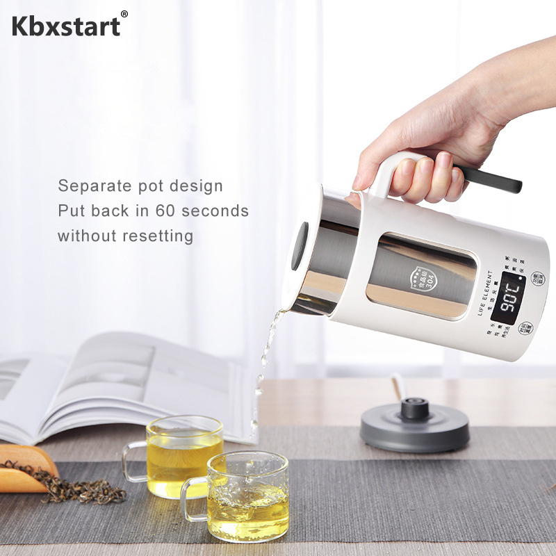 Kbxstart 0.6L Multifunction Health Preserving Pot Electric Stainless Steel Kettle Thermal Insulation Teapot Heating Pot 100 240V