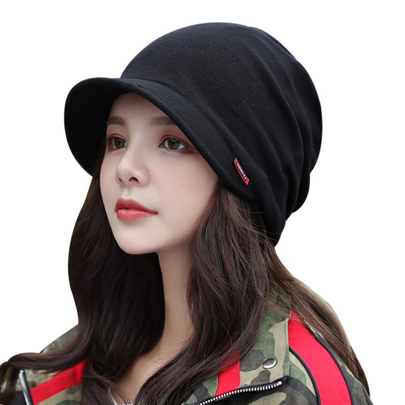 Women Men Double Layer Warmer Cap Scarf Causal Lightweight Breathable Anti-sweat Blend Hat Neck Autumn Winter Hat