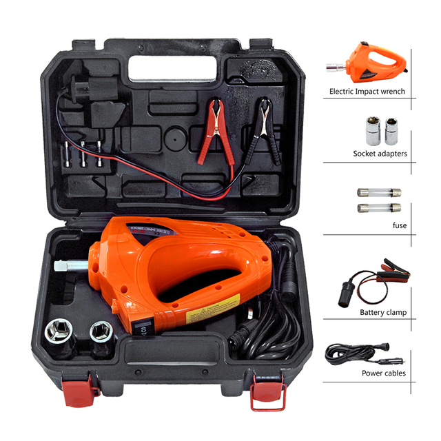 Car Impact Wrench Socket Cordless Electric 12v Auto Tyre Change Tools Jack Automotive Repair