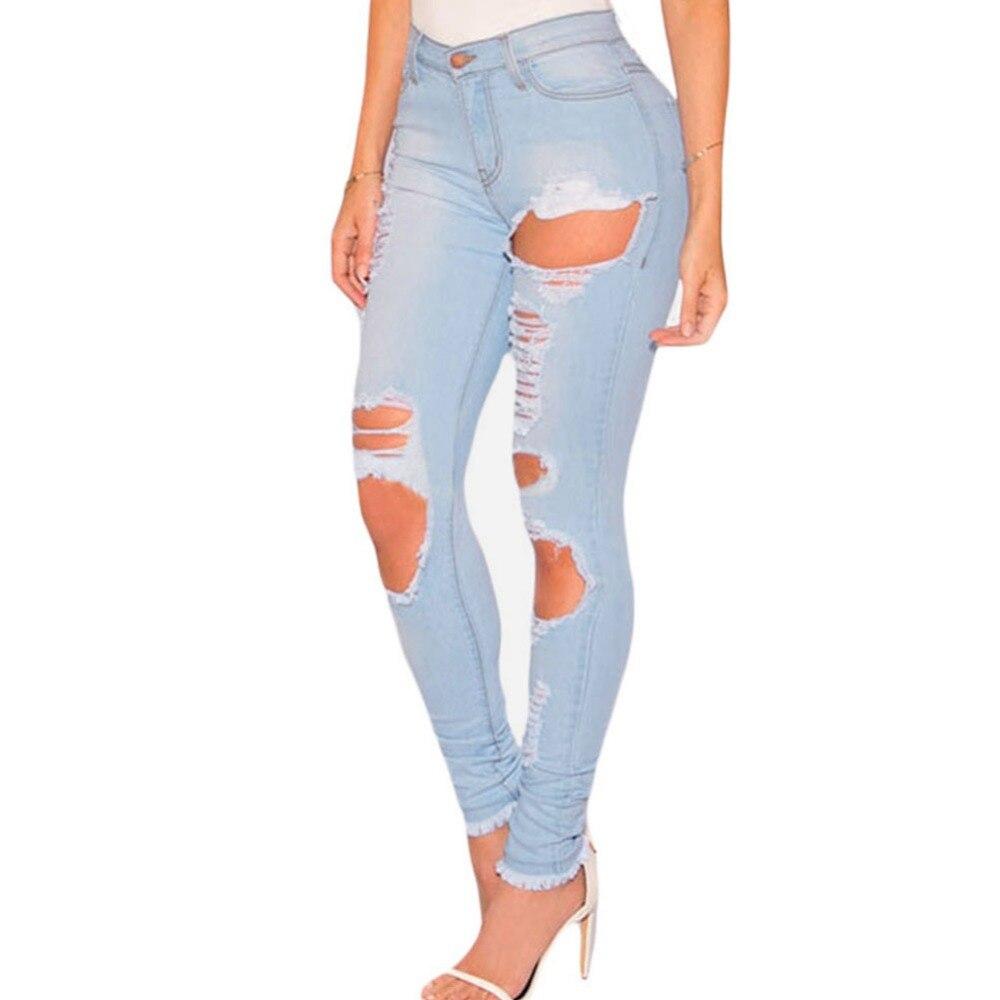 Boyfriend Jeans For Women 2016 Classic Women Avant garde Fashion Asymmetry Hole Waist Lc78661 Cultivate One