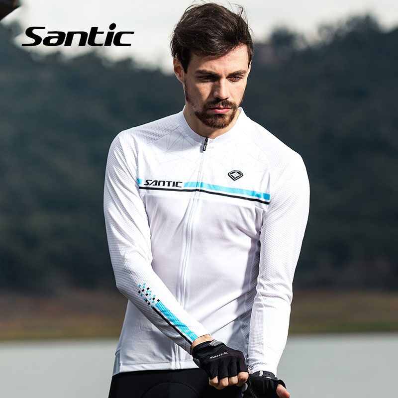 Santic Summer Cycling Jersey Men 2018 Pro Team Long Sleeve Anti-UV Road Mountain Bike Jersey Quick Dry Bicycle Shirt Clothing
