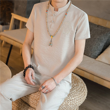 Loldeal Summer T-shirt Casual Breathable Short-sleeved + Pants Chinese Mens Fashion Suit