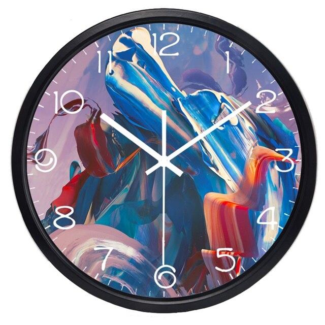 Toko Online Colorful Aquarelle Abstrak Naga Gambar Jam Dinding Rumah