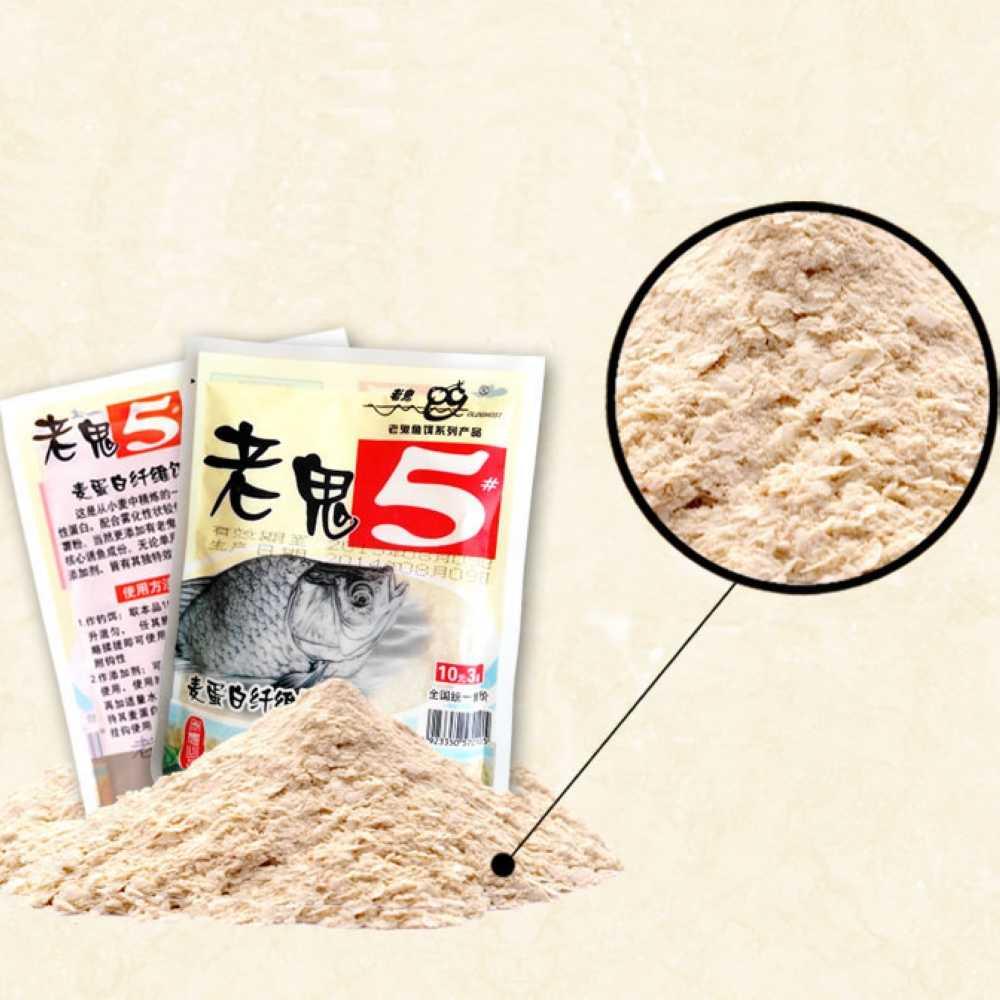60g protéine Fiber Crucian produit d'appât de pêche appât hernaha canne à main appâts vivants additifs fournisseur de pêche 1 sac