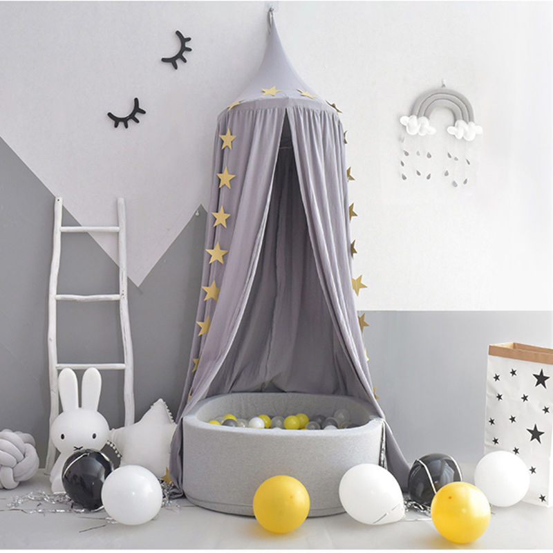 Tent For Kids Crib Mosquito Net Boy Girl Princess Bed Curtain Canopy Children Play House Baby Room Decoration Photography Props baby bed canopy without bottom portable folding baby bed mosquito net children mosquito tent 65 115cm kids outdoor camping tent