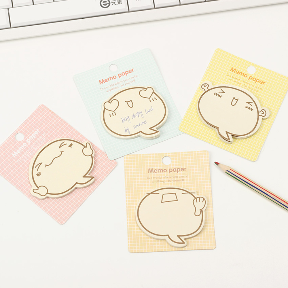 3PCS Creative Stationery Sticky Notes Memo Pad Big Face N Times Paper Sticker Post It Notepad Office Supplies WJ-SMTP157