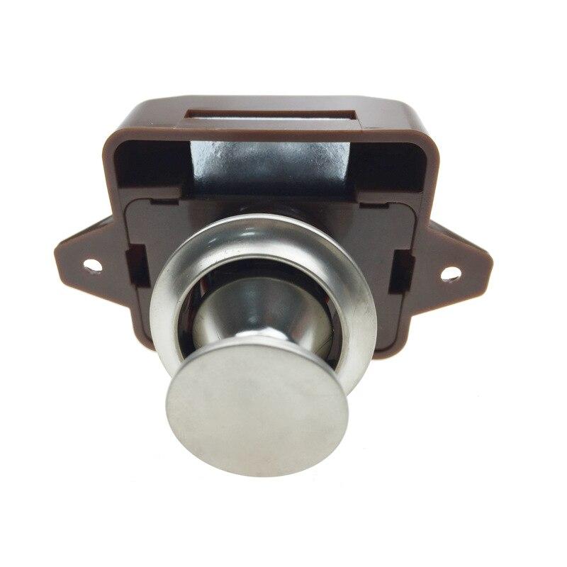 10pcs lot Car Push Lock 26mm RV Caravan Boat Motor Home Cabinet Drawer Latch Button Locks
