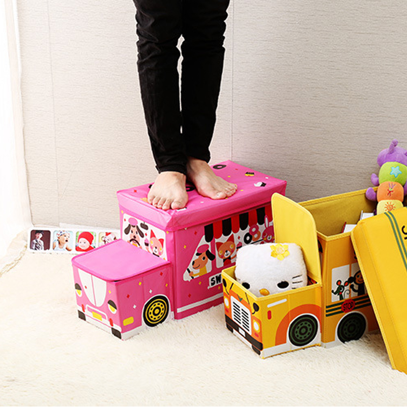 Image 4 - Creative car storage box Storage stool car organizer Trunk storage box car Seat storage bag Cartoon Multi purpose  box-in Stowing Tidying from Automobiles & Motorcycles