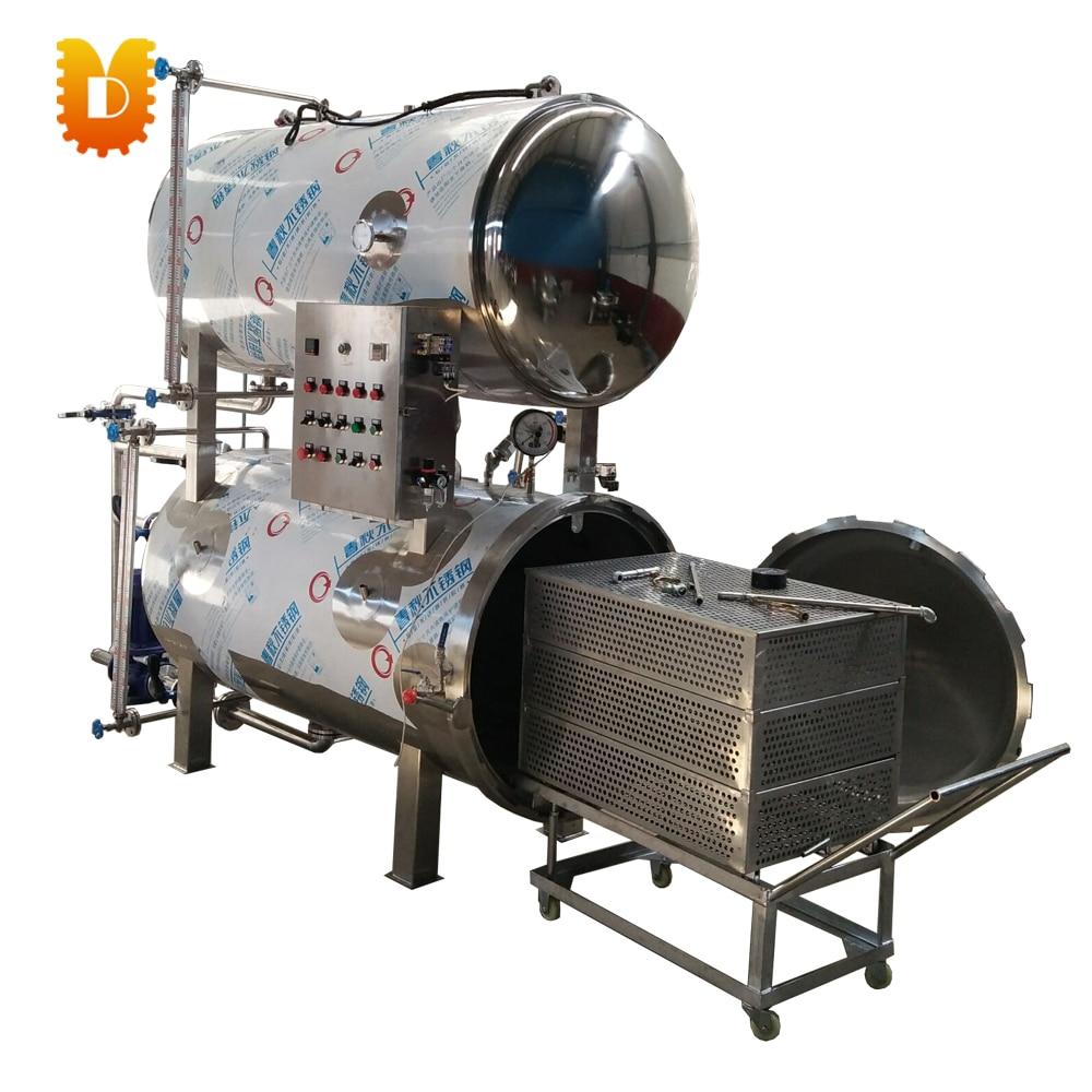 Double Electric Can Food Sterilization Machine / Automatic High Temperature Retort Machine