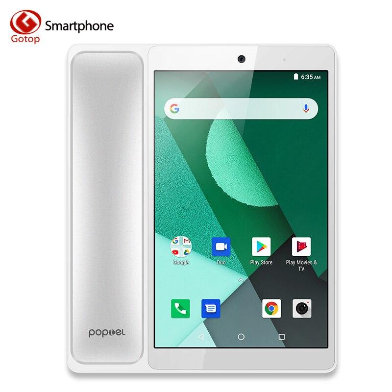 POPTEL V9 8.0 polegada Do Telefone Móvel 16 2GB de RAM GB ROM 5MP vídeo telefone Celular Android 8.1 SC9832E OTA OTG 4G vedio Smartphone