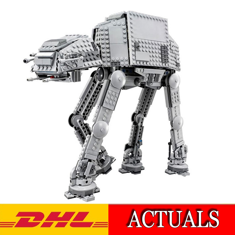 2018 New Lepin 05051 1157Pcs Star Wars The Force Awakens AT-AT Model Building Kits toy Blocks Bricks Compatible Toys Gift 75054 star wars droid escape pod 75136 building blocks set bricks toys the force awakens toy compatible with
