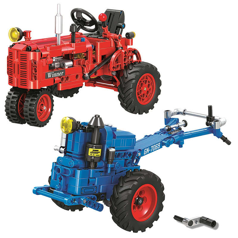 Classic Tractor Motorcycle Technic Creator Model Building Blocks Bricks Technician Toys For Children Christmas Gift