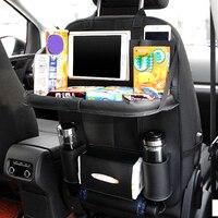 Car Seat Back Organizer Storage Bag Travel Auto Universal Leather Protector Hanging Holder Box Pocket Car