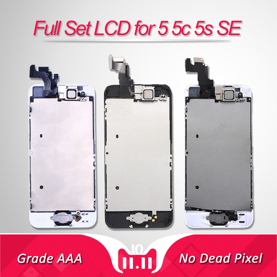 Full Set LCD for iPhone 5s 5c Screen Complete Assembly Display 5s SE Digitizer Replacement 6