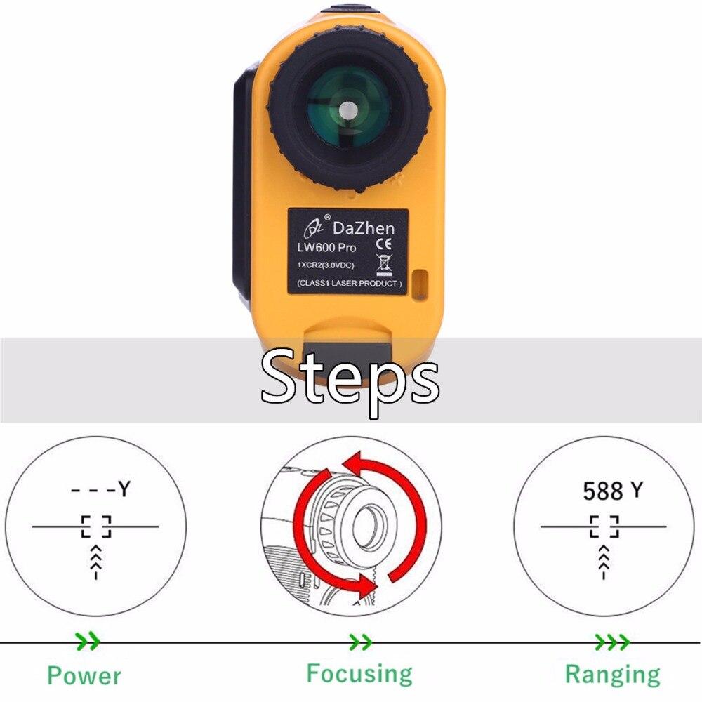 Golf Range finder Hunting Telescope Rangefinder 1000 Yard Angle Slope Compensation Monocular Laser Distance Meter Measuring LCD in Laser Rangefinders from Tools