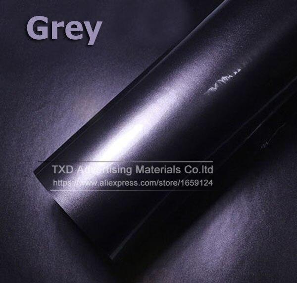 Премиум качество 10/20/30/40/50/60X152 см/лот красный металлик глянцевый блеск обертывание наклейка для автомобиля обертывание s глянцевые конфеты золото виниловая пленка - Название цвета: grey