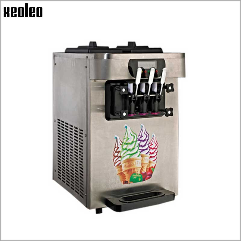XEOLEO Commercial Ice cream machine 1900W Ice cream maker 22L/H Pink/Stainless steel Yogurt machine R22 Yogurt ice cream machine