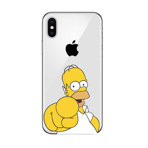 Image 5 - Cool Homer Simpsons 먹는 플라스틱 로고 iPhone 5 용 하드 PC 커버 케이스 5s SE 6 6S Plus 7 8 Plus X10 XR XS MAX 11 Pro Max