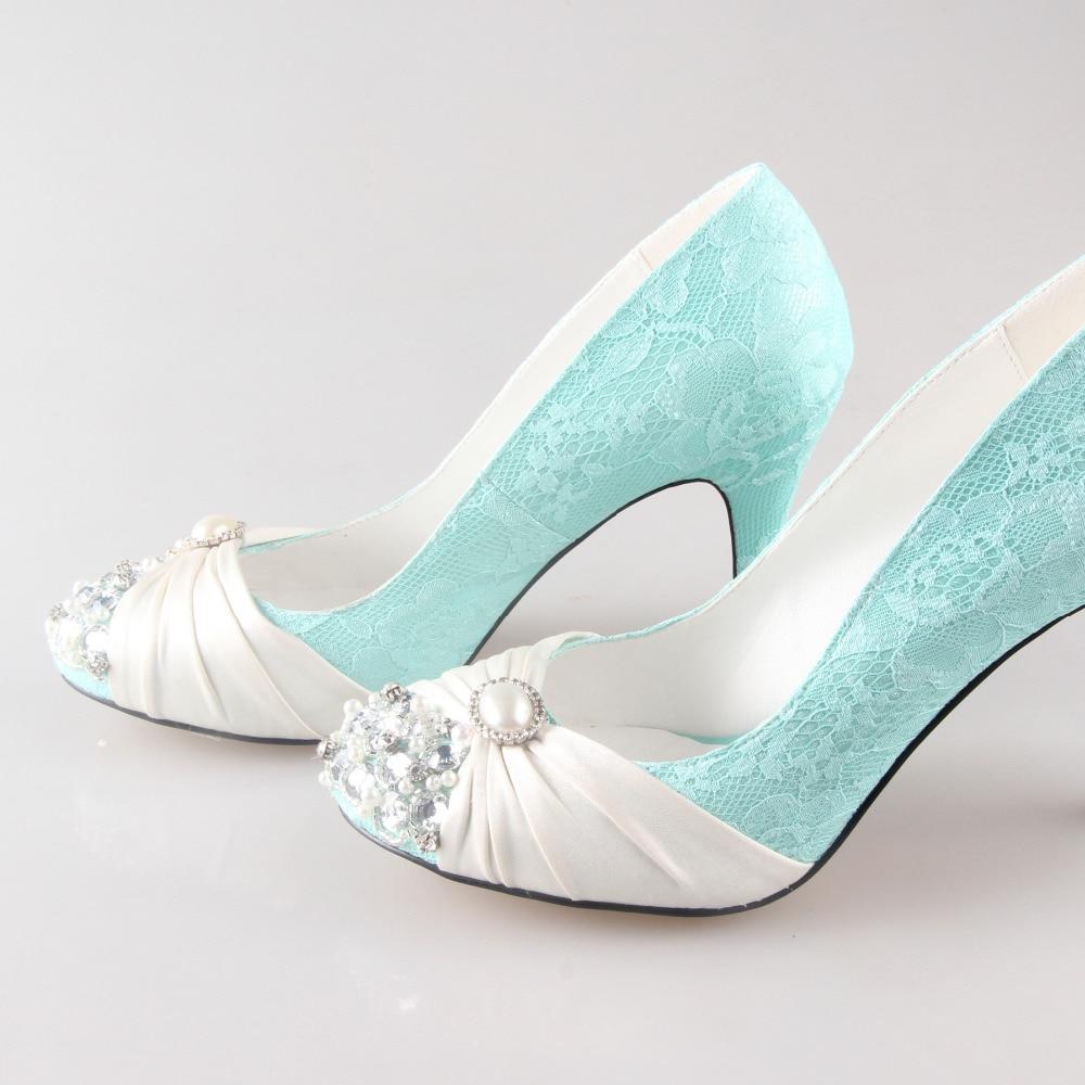 Creativesugar Handmade mint green lace ivory pearls rhinestone ...