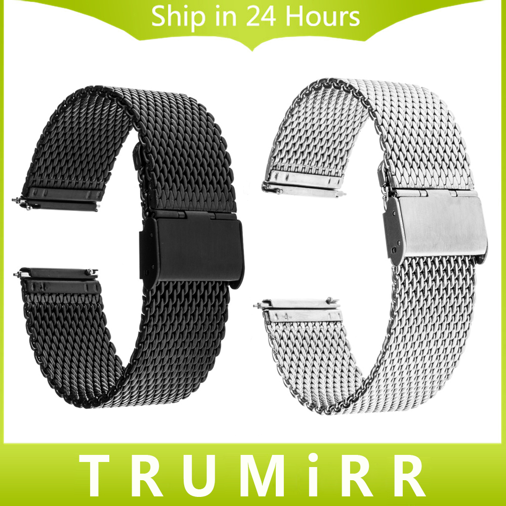 где купить 16mm 18mm 20mm 22mm Milanese Watchband with Quick Release Pins & Tool Universal Watch Band Wrist Strap Stainless Steel Bracelet по лучшей цене