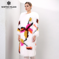 2016 fashion style windmill decorative pattern fox coat fox popular style fur coats for women designer style fox fur winter coat