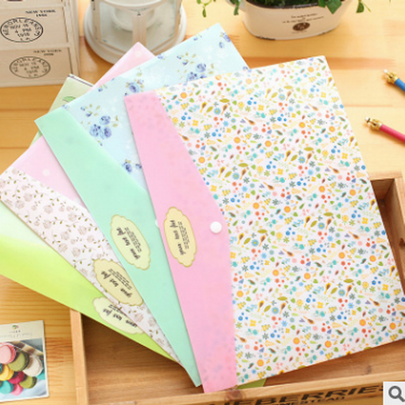 Wholesale 500PC A4 Waterproof PVC File Folder Document Filing Bag Stationery Bag