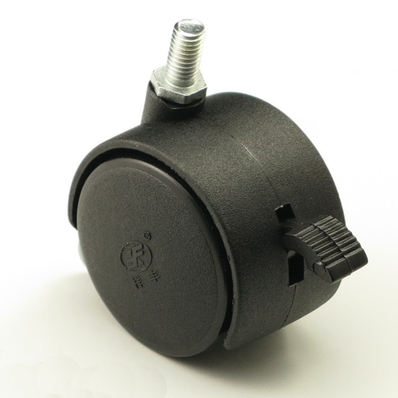 1.5 ''zwart Plastic Rem Caster Wielen Roll Casters Office Stoel Sofa Meubels Hardware Met Break