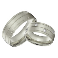 custom bridal pair alliance 8mm white gold color wedding bands sets titanium rings jewelry