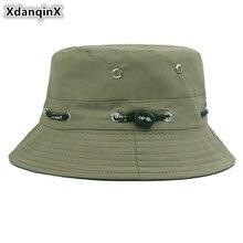 d4cd0f35320 XdanqinX New Multiple Color Unisex Bucket Cap Cotton Polyester Panama Bucket  Hats Summer Hip Hop Beach