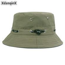 6effa99016169b XdanqinX New Multiple Color Unisex Bucket Cap Cotton Polyester Panama Bucket  Hats Summer Hip Hop Beach Fishing Hat For Men Women