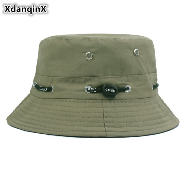 a69fb7e78 US $2.93 33% OFF|XdanqinX New Multiple Color Unisex Bucket Cap Cotton  Polyester Panama Bucket Hats Summer Hip Hop Beach Fishing Hat For Men  Women-in ...