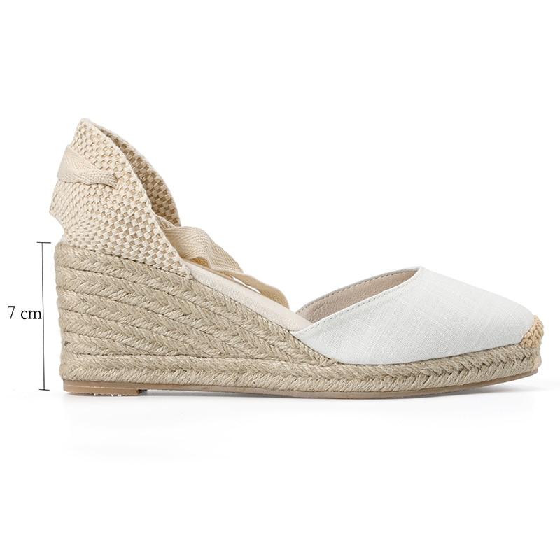 HTB1GvkmRhYaK1RjSZFnq6y80pXaq New 0-3cm Tienda Soludos Womens Wedge Sandals Ankle Strap Cap Toe Espadrille Sandal Concise Cotton Fabric {sandals} Women