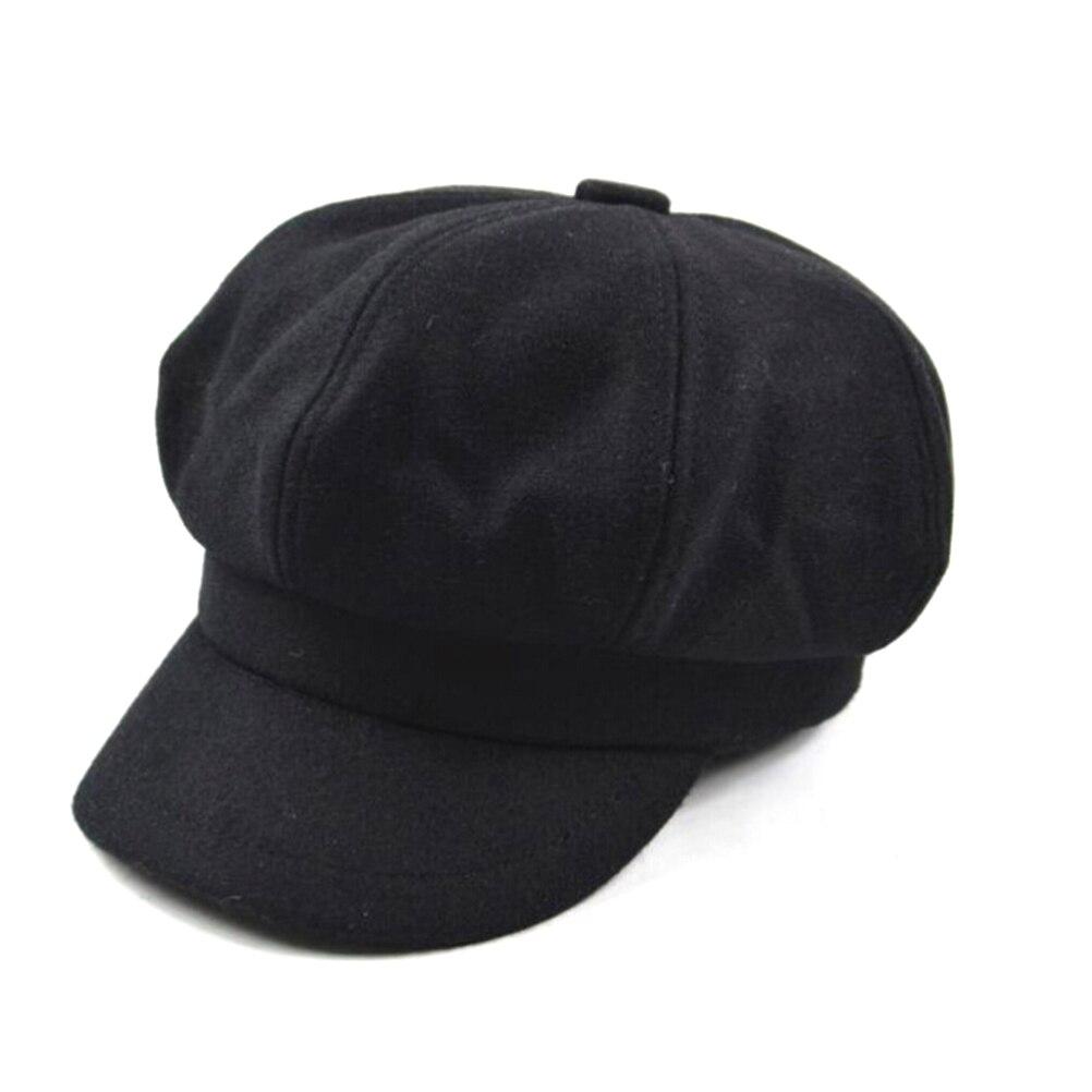 2019 Neuestes Design Frauen Französisch Baskenmütze Hut Ballon Cabbie Beret Cap Cloche Woll Maler Visier Hüte Für Herbst Winter
