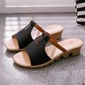 Женщины сандалии 2017 лето высокое качество PU дышащие случайные сандалии женщин удобные туфли-клинья sandalias mujer
