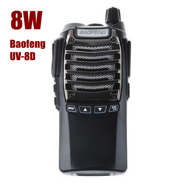 Hot Baofeng UV-8D UHF 400-480 MHz Dual PTT de Radio 8 W 128CH 2800 mAh DTMF VOX 1750Hz Tono FM VOX Walkie Talkie con el auricular
