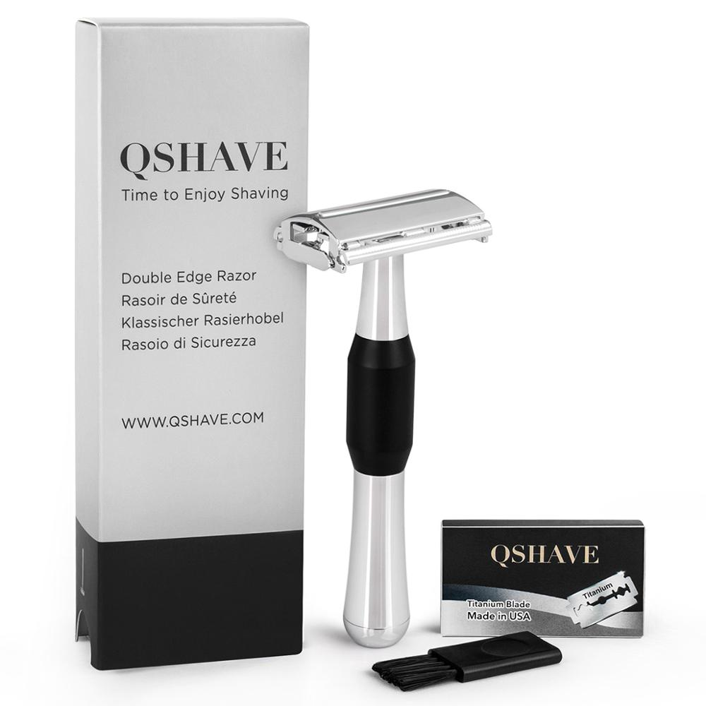 QShave New Design Luxurious Butterfly Open Safety Razor Classic For Superb Mens Shaving Razor Barber