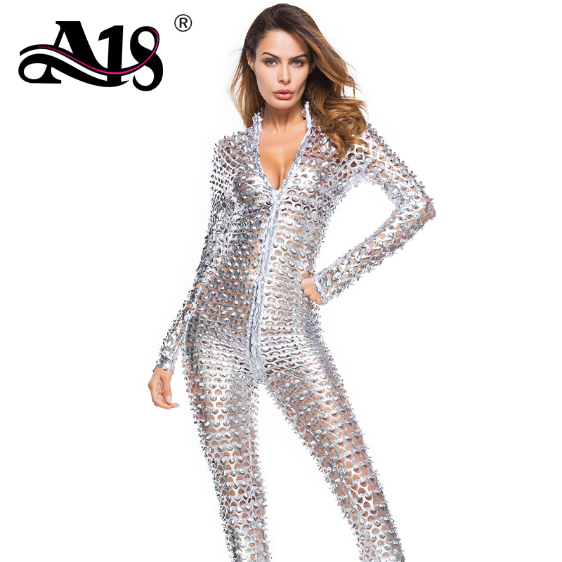 A18 Patent Leather Hollow Women Exotic Apparel Double Zips Sexy Cat Woman Sheath Women Bodysuits Hot Erotic Suits Sexy Costumes