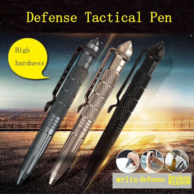 Tactical Defense Pen Outdoor Car Broken Window Escape Equipment Metal Pen Women's Self-defense Supplies