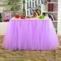 Tulle Table Skirts Cover Table Cloth for Girl Princess Party Wedding Birthday Parties and Home Decoration