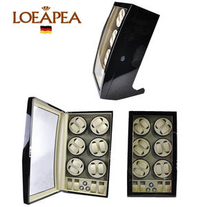12--4 Automatic Winder Box Watch Store Organizer Wooden Display Classic LUXURY Brand